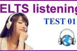 IELTS Listening Practice 01