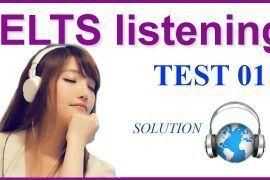 IELTS Listening Practice 01 - Solution