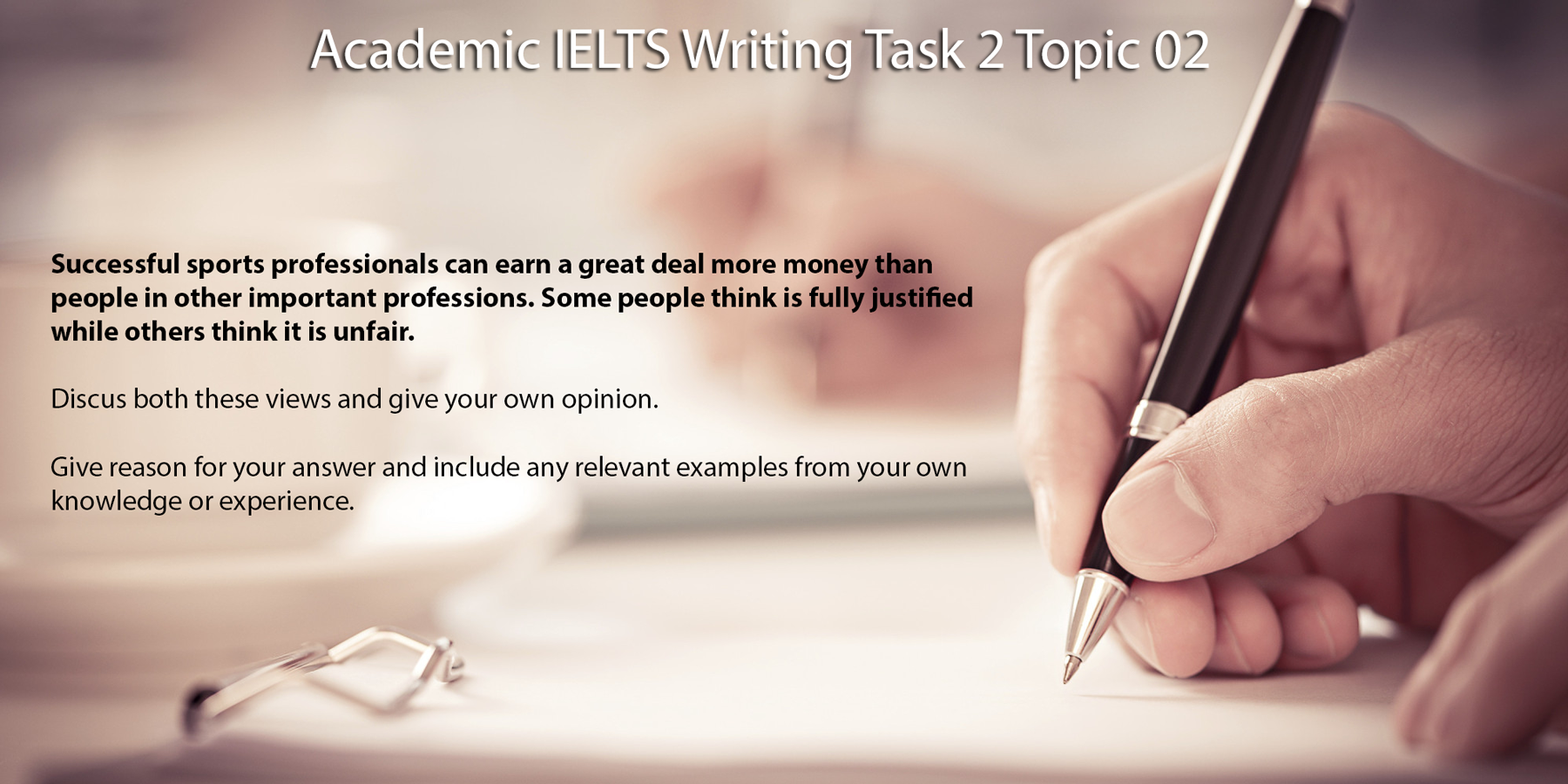 ielts task 2 Greg archer, provides bite-size support for teachers new to preparing students for  ielts greg looks at task 2 of the writing test.