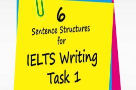 6 useful IELTS Sentence Structures for IELTS Writing Task 1