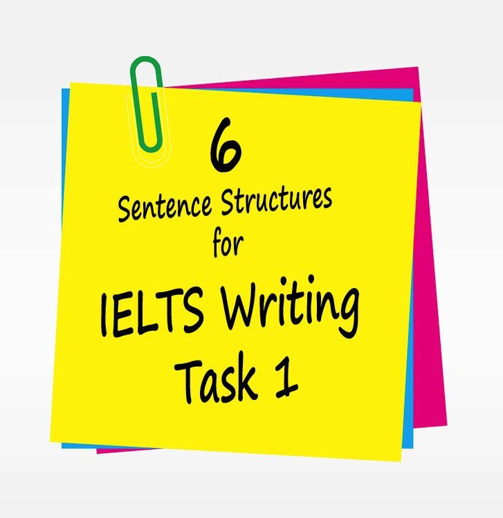 6 useful sentence structures for IELTS Writing Task 1 to get