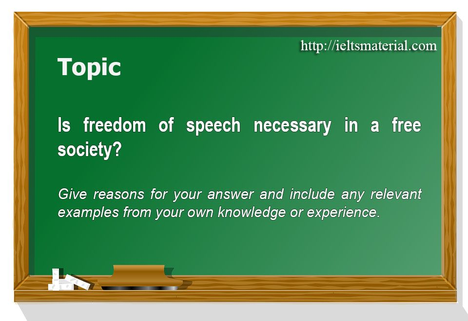 Academic Ielts Writing Task 2 Band 80 Topic 14 Freedom Of Speech