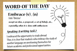 IELTSmaterial.com - Word of the day - Embrace