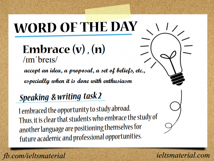 Word of The Day – Embrace