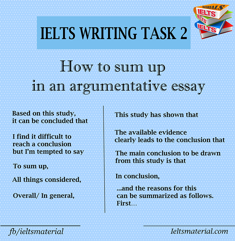 IELTSmaterial.com - how to sum up