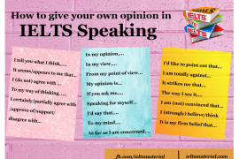 ieltsmaterial.com - give opinion IELTS Speaking