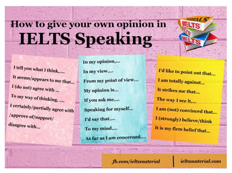 How to give your own opinion in IELTS Speaking Part