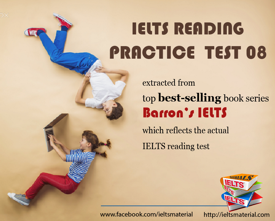 IELTS REading Practice Test from Barron's IELTS Practice Exams
