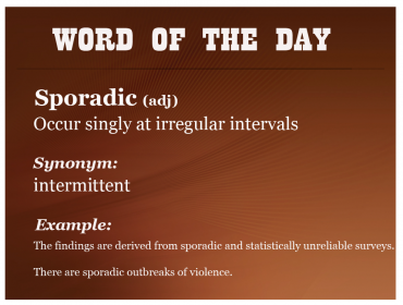 IELTSMaterial - Word of the DAy - sporadic