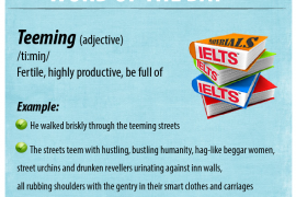 IELTSMaterial - Word of the Day - Teeming