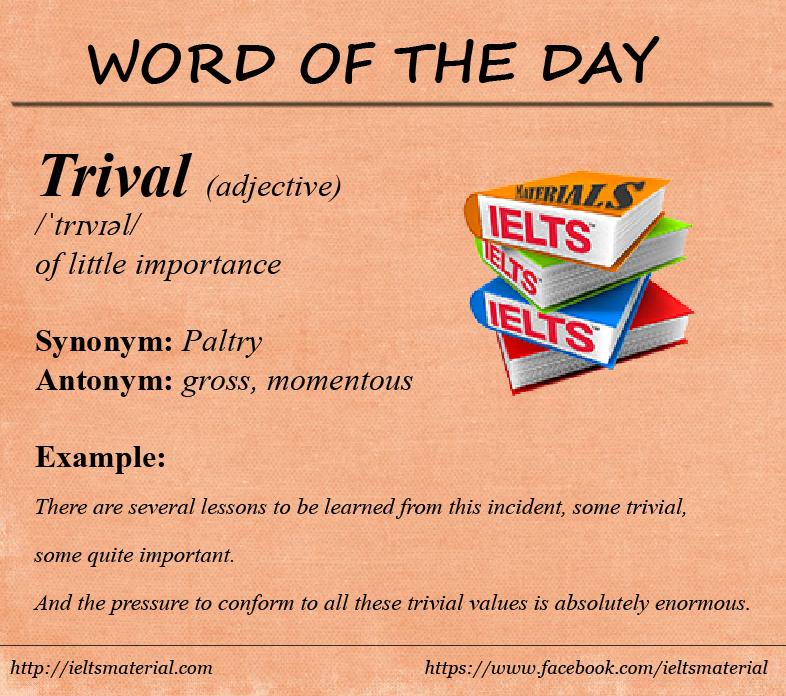 Word of the Day – Trivial