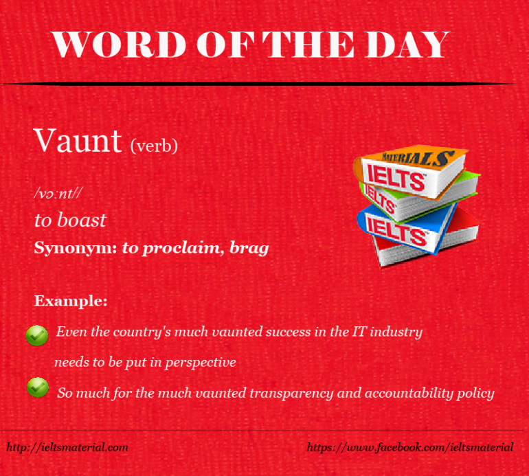 IELTSMaterial - Word of the Day - Vaunt