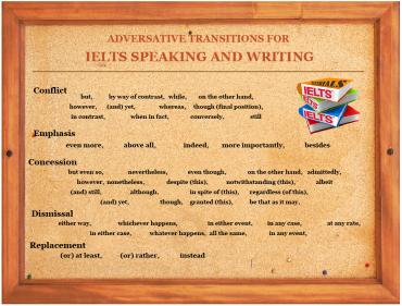 IELTSMaterial.com - Adversative Transitions