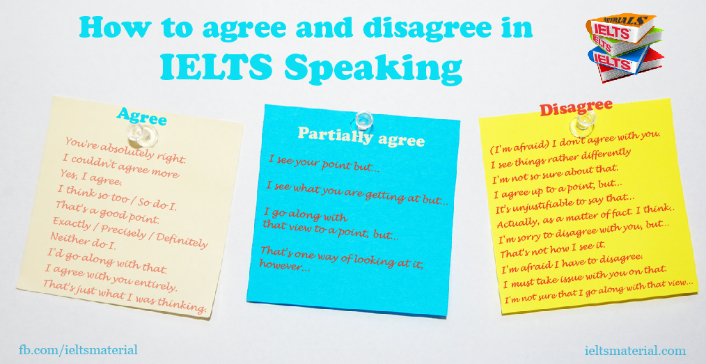 How To Agree And Disagree In Ielts Speaking Part By Ielts Material