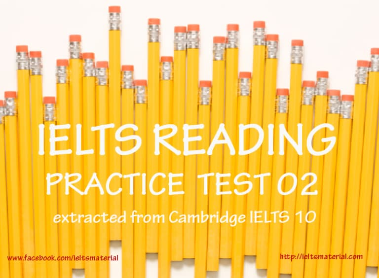 Daily IELTS Reading Practice Test 02 - Cambridge IELTS Practice Test 10