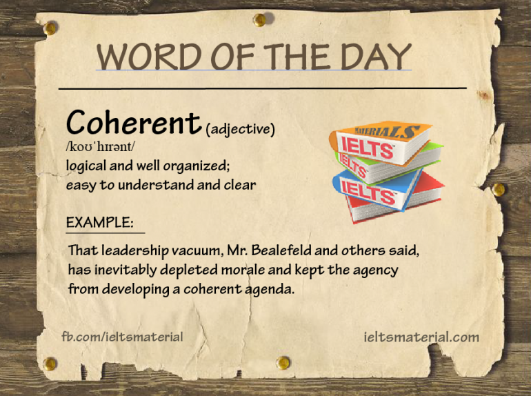 Ieltsmaterial.com - word of the day - coherent