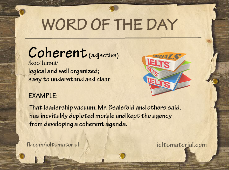 Word of The Day – Coherent