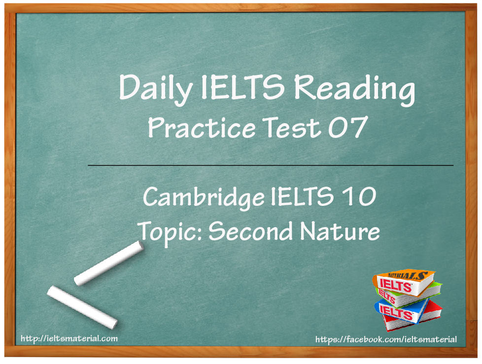 ieltsmaterial.com - ielts reading practice test 07 - second nature