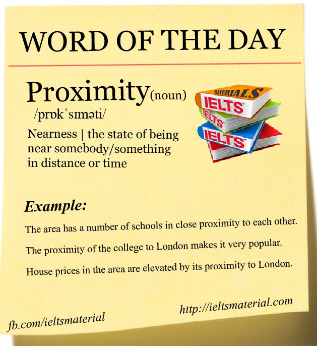 Word of the Day – Proximity