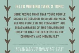IELTS Writing Task 2 Advantage Disadvantage Essay of Band 8.0-Youth