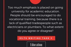 IELTS Writing Task 2 Argumentative Essay of Band 8.0 - Education