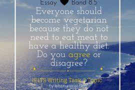 IELTS Writing Task 2 Argumentative Essay of Band 8.5 – Topic Health