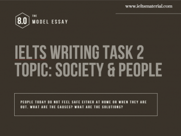 IELTS Writing Task 2 Cause Solution Essay of Band 8.0 - Topic People & Society
