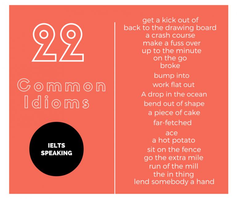 Ieltsmaterial.com - 22 common idioms in ielts speaking part 2