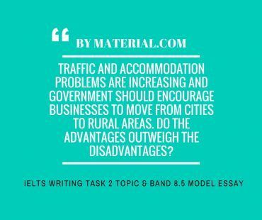 ieltsMATERIAL.COM - ielts writing task 2 advantage disadvantage essay of band 8.5 - topic traffic and accomodation
