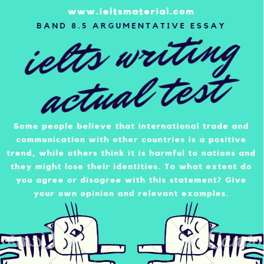 IELTS Writing Actual Test in April, 2016 & Band 8.5 Argumentative Essays