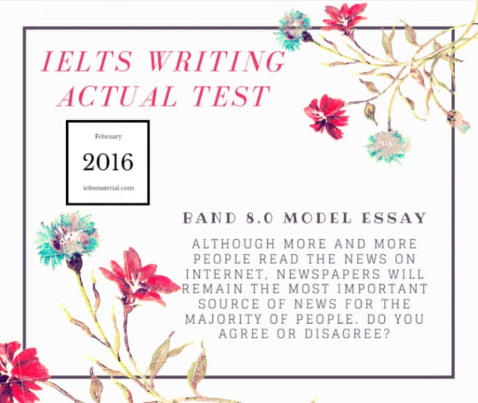 IELTS Writing Actual Test in January, 2016 & Band 8 Argumentative Essays