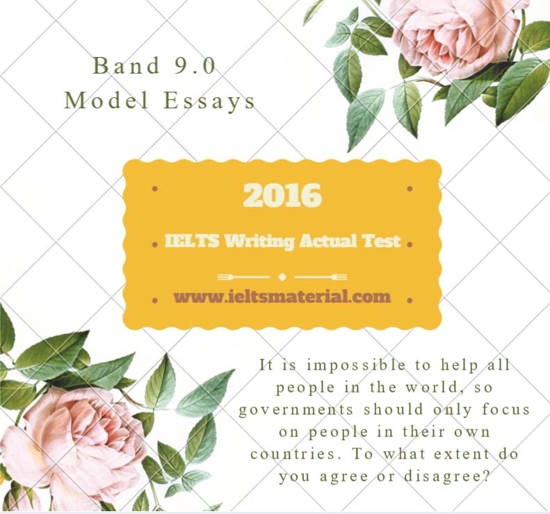 IELTS Writing Actual Test in March, 2016 - Band 9.0 Sample Argumentative Essays