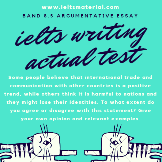 Ielts Writing Actual Test In April   Band  Argumentative Essays Com  Ielts Writing Task  Essay Of Band  International Trade Proposal Essay Topics List also Thesis Argumentative Essay  Writers For Assignment Required