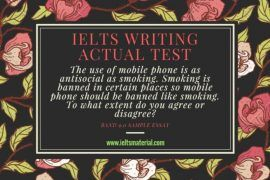 IELTS Writing Actual Test & Band 9.0 Argumentative Essay - Topic: Mobile Phone