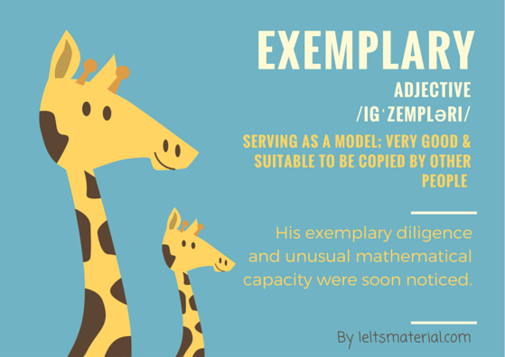 ieltsmaterial.com-word of the day - exemplary