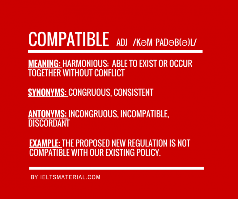 IELTSMATERIAL.COM - Word of the day for ielts speaking & writing - compatible