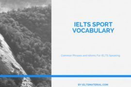 IELTS SPORT VOCABULARY (1)