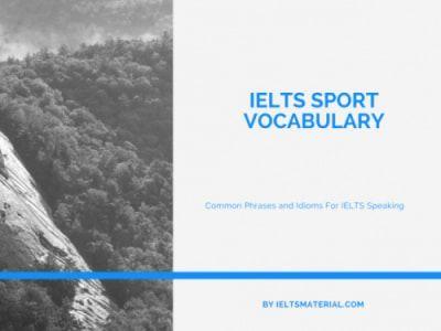 IELTS SPORT VOCABULARY (1)
