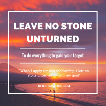 ieltsmaterial.com-idiom of the day -leave no stone unturned