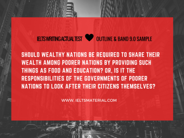 Should wealthy nations be required to share their wealth with poorer nations by providing essay