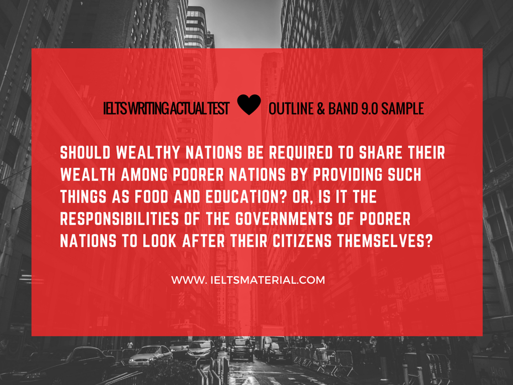 Should wealthy nations help poor nations essay