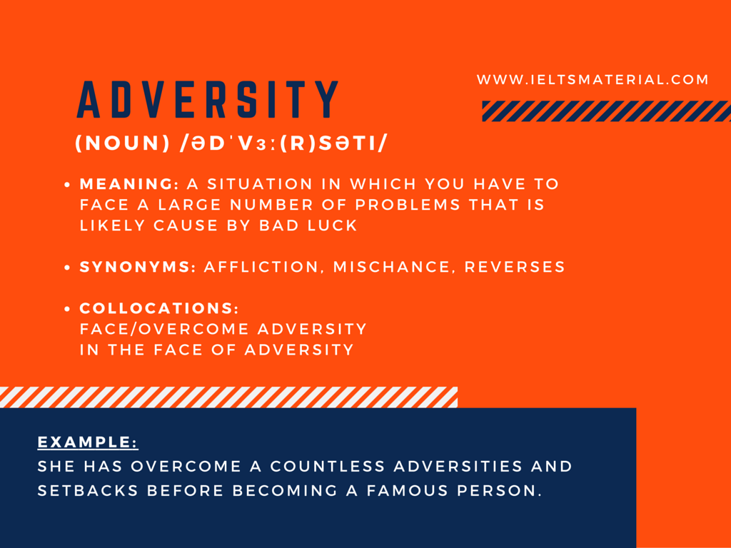 Word Of The Day – Adversity