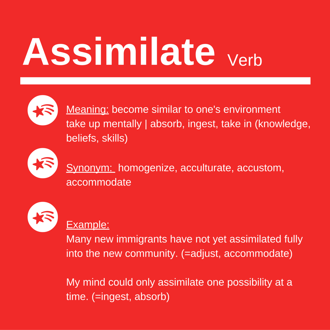 Assimilate – Word of the Day for IELTS Speaking & Writing