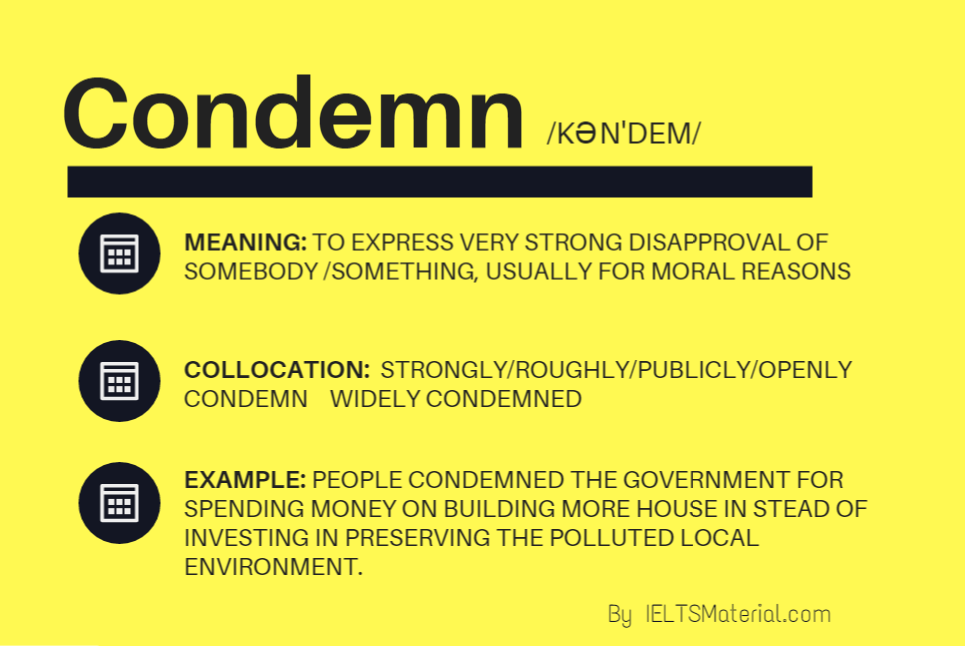 Word of the day – Condemn