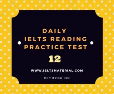 Daily IELTS Reading Practice Test