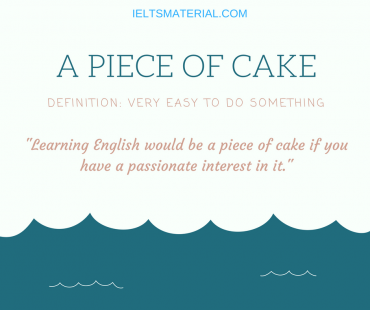 Idiom of the day - A PIECE OF CAKE