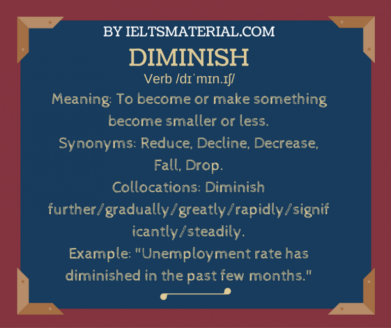 word of the day by IELTSMaterial.com - diminish