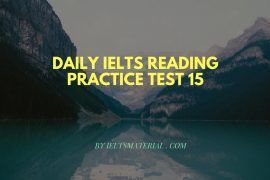 Daily IELTS Reading Practice Test 15