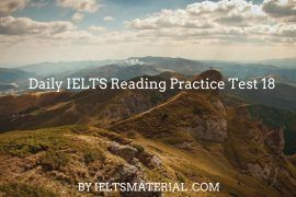 Improve IELTS Reading Skills with IELTS Reading Practice Test 18