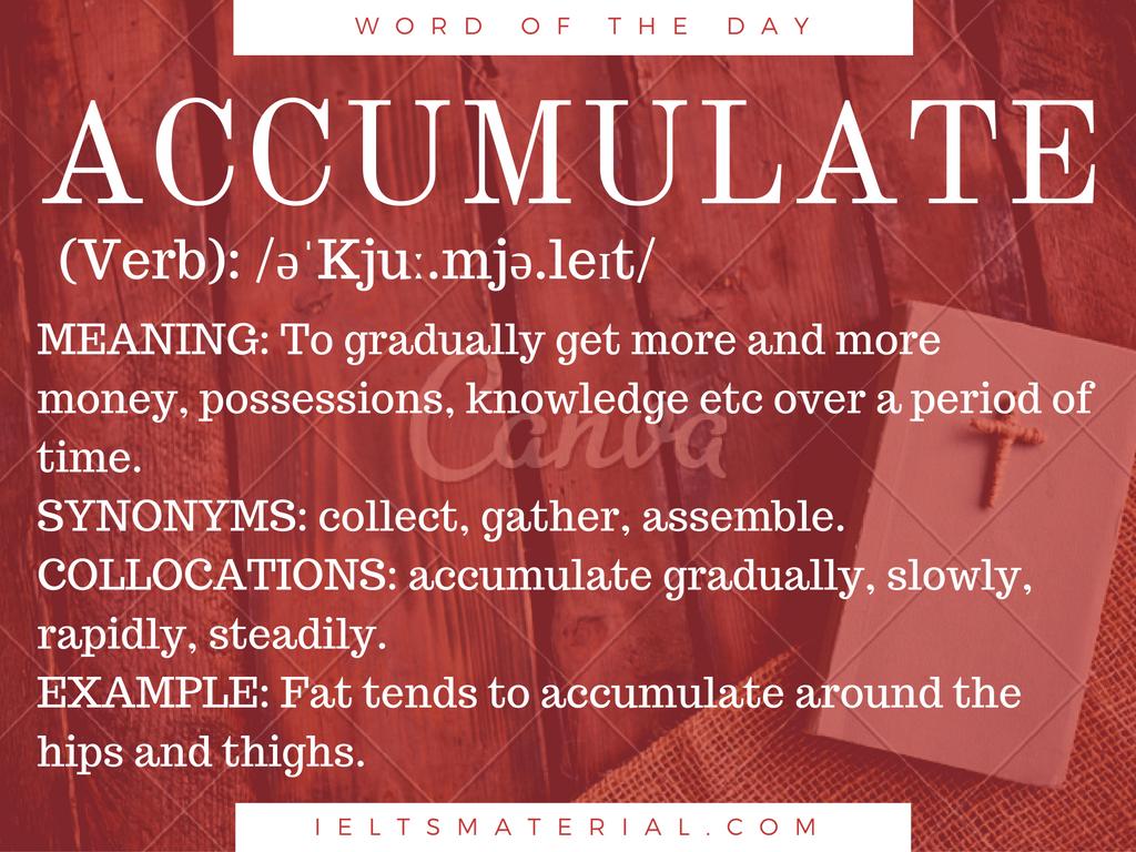 As days accumulate essay
